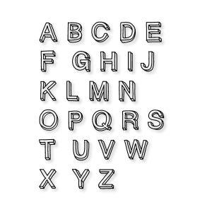 Alfabet open letter strijk