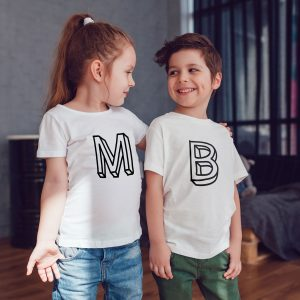 kids open letter witte shirts