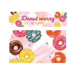 keuken sticker donut kraam