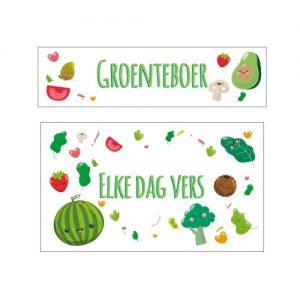 keuken stickers groente man