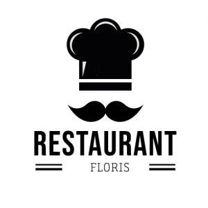 restaurant keukendeur sticker