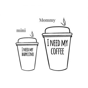 Mom-coffee strijkapplicaties