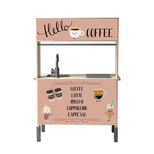 hello coffee bar keukenstickers