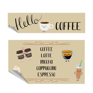 Hello coffee keukensticker