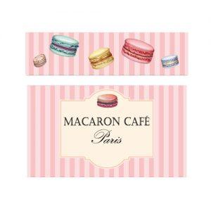 Macaron café stickers duktig