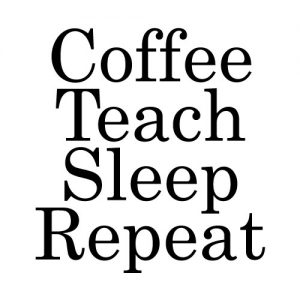 coffee teach sleep repeat strijkapplicatie