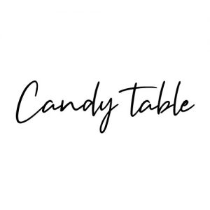 Candy table sticker wegwijzer