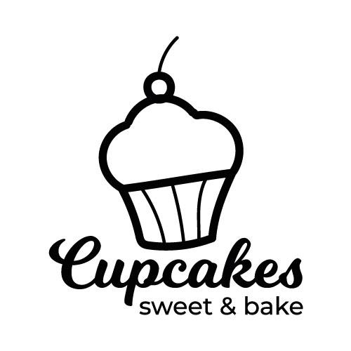 Cupcakes deursticker