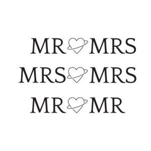 Mr & Mrs auto sticker