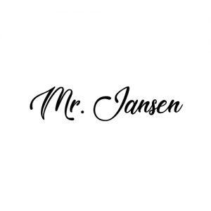 mr jansen schoensticker