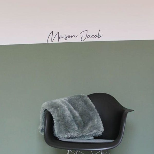 Naamsticker stoel muur