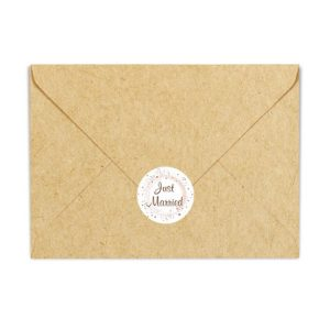 just married envelop