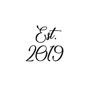 est 2019 wedding schoen sticker