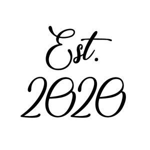 Est 2020 schoen sticker