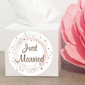 just married tissue doos