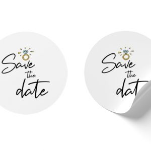 Save the date ring stickers