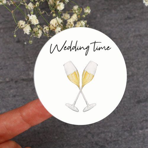 Wedding time sticker