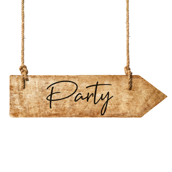 party pijl sticker