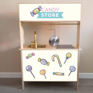 Candy store Ikea Duktig keukenstickers