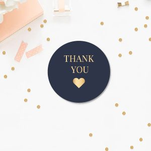 Thank you confetti sticker