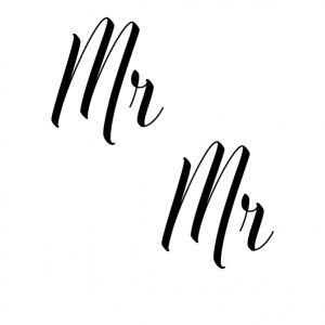Mr Mr wedding sticker