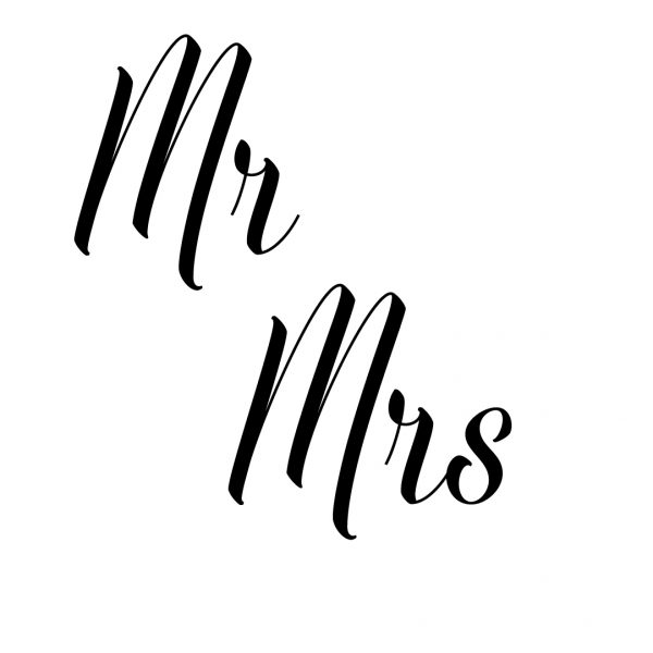 Mr Mrs sticker set