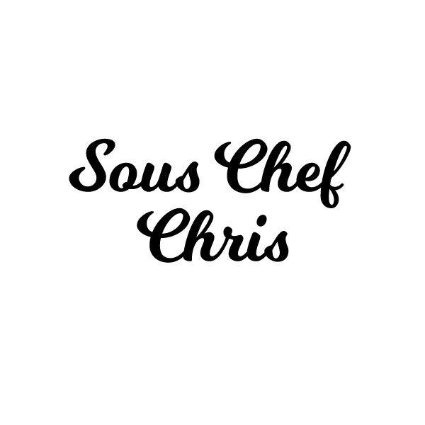 Sous chef naam keuken sticker