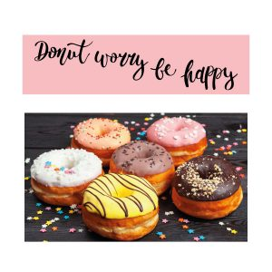donut worry sticker set
