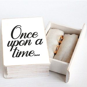 Once upon a time wedding sticker