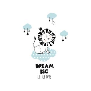 Dream big muursticker