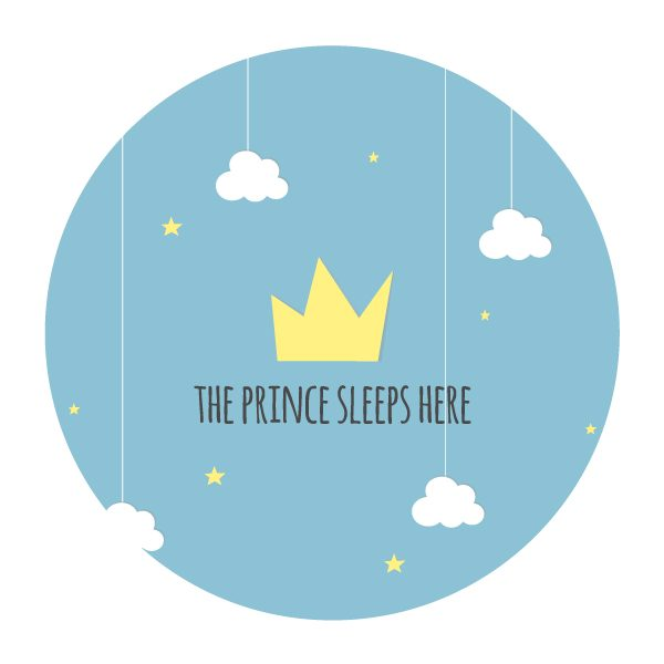 Prince sleeps muursticker