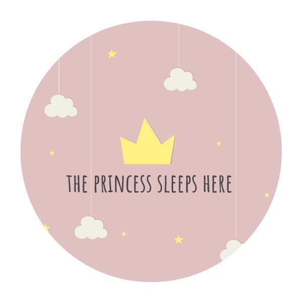 Princess cirkel muursticker