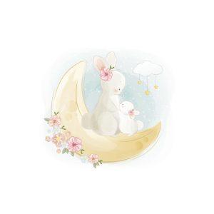 Cirkel konijn maan