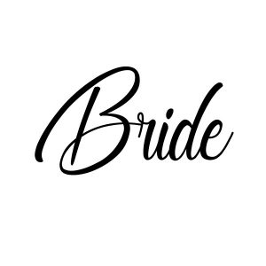 Bride strijkapplicatie