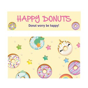 Happy donut keukensticker