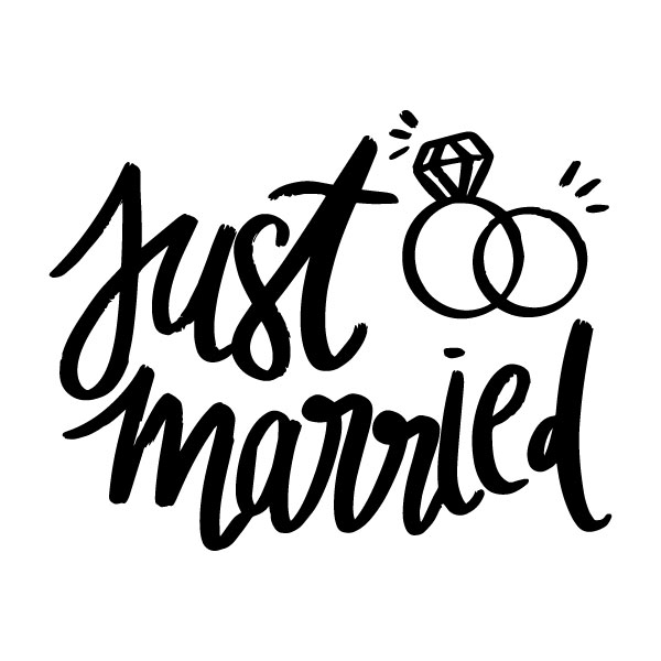 Just married strijkapplicatie