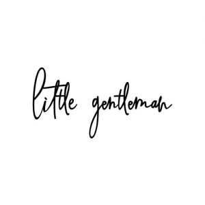 Little gentleman strijkapplicatie