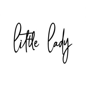Little lady strijkapplicatie