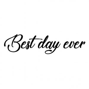 Best day ever Strijkapplicatie