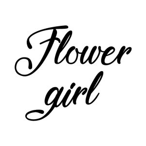Flower girl Strijkapplicatie