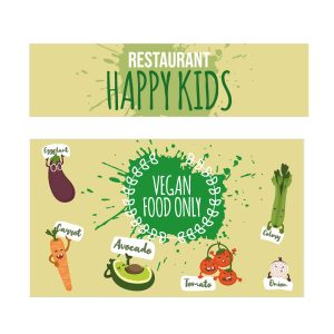 Vegan kids keukensticker