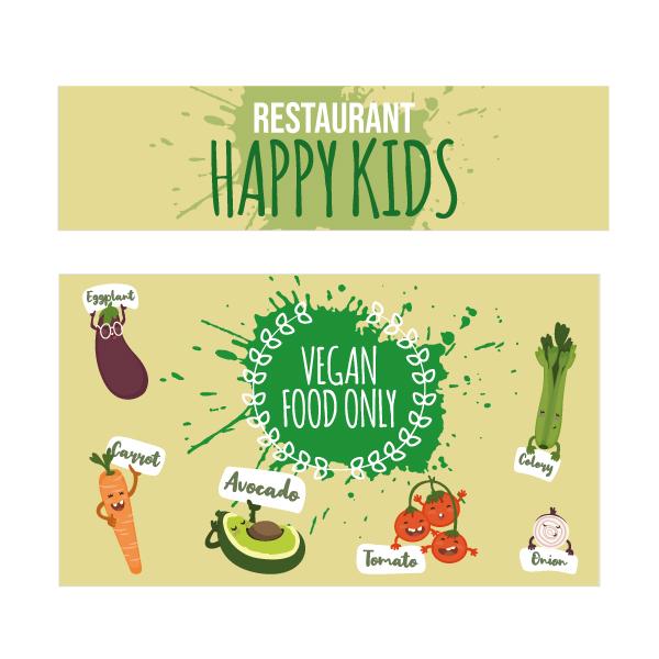 Vegan kids keukensticker