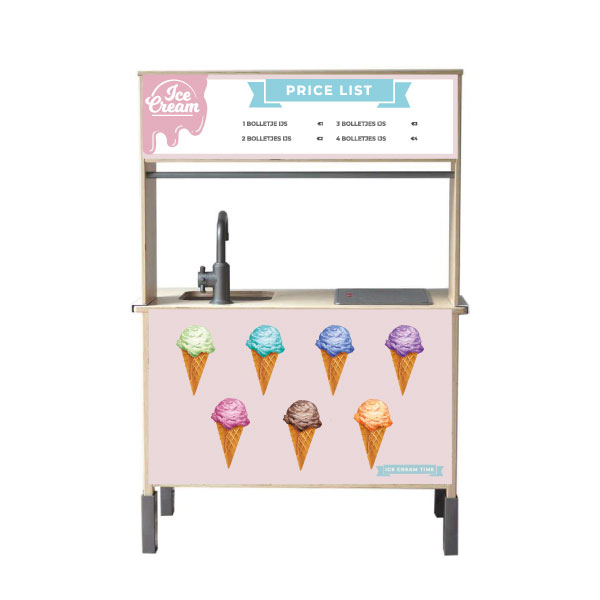 Ice cream menu keukensticker