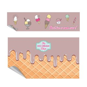 Icecream choco keukensticker