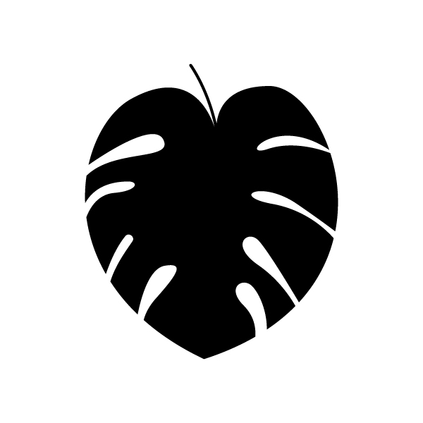 Monstera muursticker
