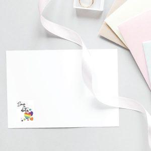 rainbow envelop