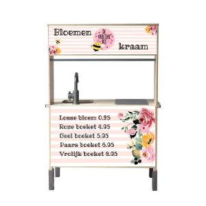 Bloemenkraam sticker