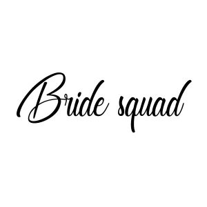 Bride squad strijk shirt