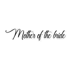 Mother bride strijkapplicatie