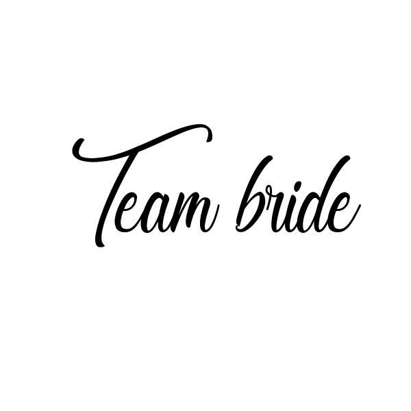 Team bride strijkapplicatie